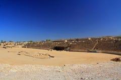 Hipódromo en el parque nacional de Caesarea Maritima Foto de archivo libre de regalías