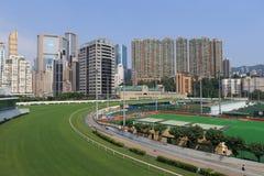 Hipódromo feliz del valle en Hong Kong Foto de archivo libre de regalías