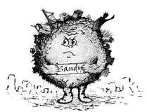 Hiper- burza Sandy Ilustracji