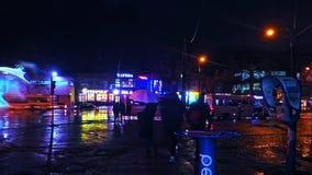 Hiper- upływ nocy kolory i zimna jesień padają zdjęcie wideo