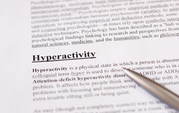 Hiperactividad - educación o fondo de la atención sanitaria Fotografía de archivo