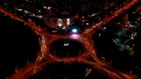 Hiperkusja nocnego ruchu miejskiego Film redakcyjny zbiory wideo