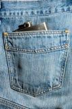hipflask джинсовой ткани Стоковые Изображения