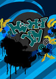 Hiphop. Hip-hop jam Graffiti modern vector background Royalty Free Stock Photos