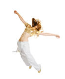Hiphop dancer isolated on white background Stock Photography