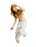 Hiphop dancer isolated on white background Royalty Free Stock Photography