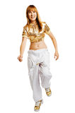 Hiphop dancer isolated on white background Stock Images