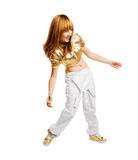Hiphop dancer isolated on white background Stock Image