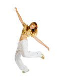 Hiphop dancer isolated on white background Stock Photos