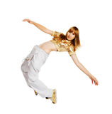 Hiphop dancer isolated on white background Royalty Free Stock Images