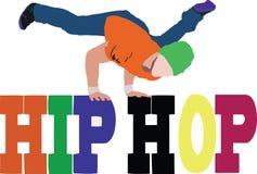 Hiphop street dance.  royalty free illustration