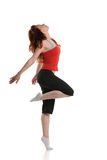 Hiphop Woman dancer performing Royalty Free Stock Photos