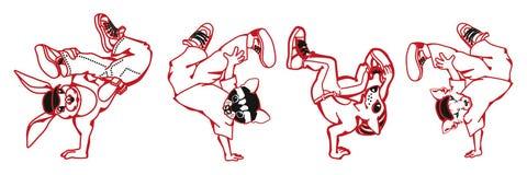 Hiphopset van tekens Royalty-vrije Stock Afbeelding