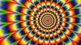Hipis animaci krawat Farbujący Promieniowy Deseniowy tło ilustracja wektor