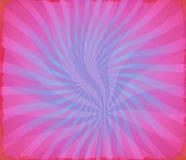 Hipisa Groovy jaskrawy falisty kolorowy starburst Obrazy Stock
