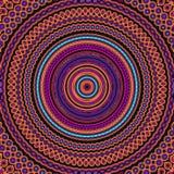 Hipisa Stylowy mandala wzoru Bezszwowa płytka W pomarańcze i purpurach zdjęcia stock