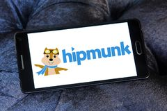 Hipmunk旅行公司商标 库存图片