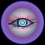 Hipnotizar la visión Fotos de archivo libres de regalías