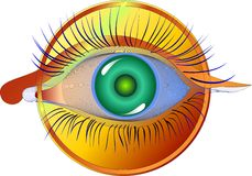 Hipnotizar la visión Fotos de archivo