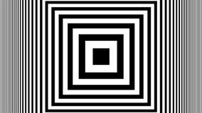 Hipnotycznego Rytmicznego ruchu Czarny I Biały lampasy ilustracji