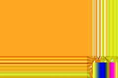 Hipnotyczny kolor żółty obramiający abstrakcjonistyczny tło Obraz Royalty Free