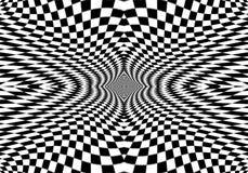 Hipnotyczny okulistyczny złudzenie w czarny i biały kolorze Wzroku 3D geometryczny tło Abstrakcjonistyczny wzrokowy nowożytny ksz ilustracja wektor