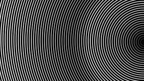 Hipnotyzujący abstrakcję biała połówka dzwoni poruszającego na czarnym tle ilustracji
