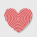 Hipnozy spirala w kształcie serce ilustracja wektor