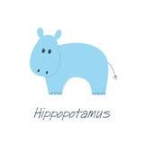 Hipopótamo azul pequeno Imagem de Stock Royalty Free