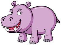 Hipopótamo bonito com sorriso triste Imagem de Stock Royalty Free