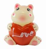 Hipopótamo com coração Imagem de Stock