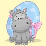 Hipopótamo con el huevo