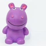 Hipopótamo de borracha Fotografia de Stock