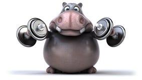 Hipopótamo de la diversión libre illustration