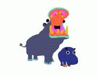 Hipopótamo de la madre Fotos de archivo