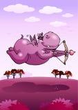 Hipopótamo de la púrpura del safari del cupido Imágenes de archivo libres de regalías