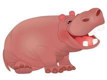 Hipopótamo de riso bonito dos desenhos animados Fotografia de Stock