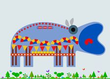 Hipopótamo decorado imagem de stock royalty free