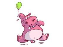 Hipopótamo divertido Fotografía de archivo libre de regalías