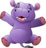 Hipopótamo divertido de la historieta Imagen de archivo libre de regalías