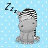 Hipopótamo el dormir Imagen de archivo libre de regalías