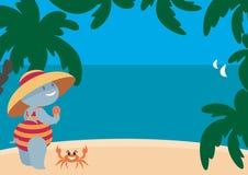 Hipopótamo que tem um resto na praia Fotos de Stock Royalty Free