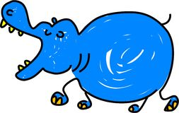 hipopotam royalty ilustracja