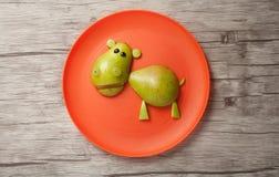 Hipopotam robić owoc Fotografia Royalty Free
