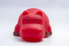 Hipopotam zabawka dla wodnej sztuki Obrazy Stock