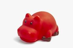 Hipopotam zabawka dla wodnej sztuki Fotografia Royalty Free