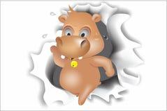 Hipopotama łamacz Zdjęcia Stock