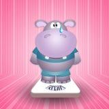 Hipopotama płacz na skala royalty ilustracja