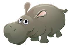 Hipopotama zwierzęcia postać z kreskówki Zdjęcie Stock