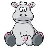 Hipopótamo bonito Imagens de Stock Royalty Free